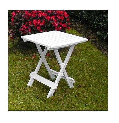 Unibos Garden Side Table Snack Patio Balcony Outdoor Coffee End Folding White Small