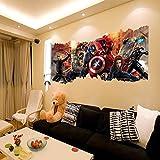 Gemeng™ Avengers Dekorative Malerei Union PVC Wandbild