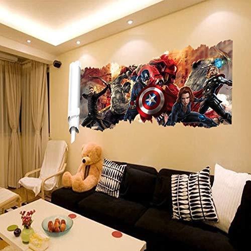 Gemeng™ Avengers Dekorative Malerei Union PVC Wandbild Wasserdicht Abnehmbare Wandaufkleber
