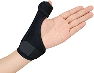 Gelible Thumb& Wrist Support Brace -Removable Splint for Reliable Support, Thumb Spica stabilizer for Arthritis Tendonitis Sprained Thumb Symptoms, One Size for Both Hands, Black