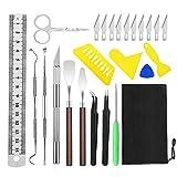 Gobesty Juego de herramientas para manualidades (25 unidades, con bolsa de almacenamiento, para escritura, HTV, rotulación y artesanía DIY)
