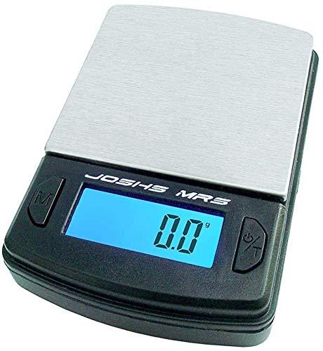 Joshs Digitalwaage MR5 | Feinwaage die in 0,1 g Schritten präzise bis 500g oder 0,5 kg wiegt | Taschenwaage | Münzwaage | Gramm | Briefwaage | LCD Anzeige