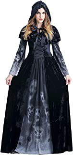 Halloween Women Costumes Black Bat Fallen Angel Devil Vampire Witch Dress Adult Cosplay Accessories (XL, style-13)