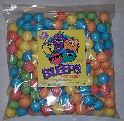 Dubble Bubble Bleeps Coated Candy Balls 28-29mm, 5 Pounds