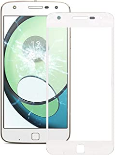 Mobile Phones Communication Accessories Front Screen Outer Glass Lens for Motorola Moto Z Play / XT1635(Black) (Color : Wh...