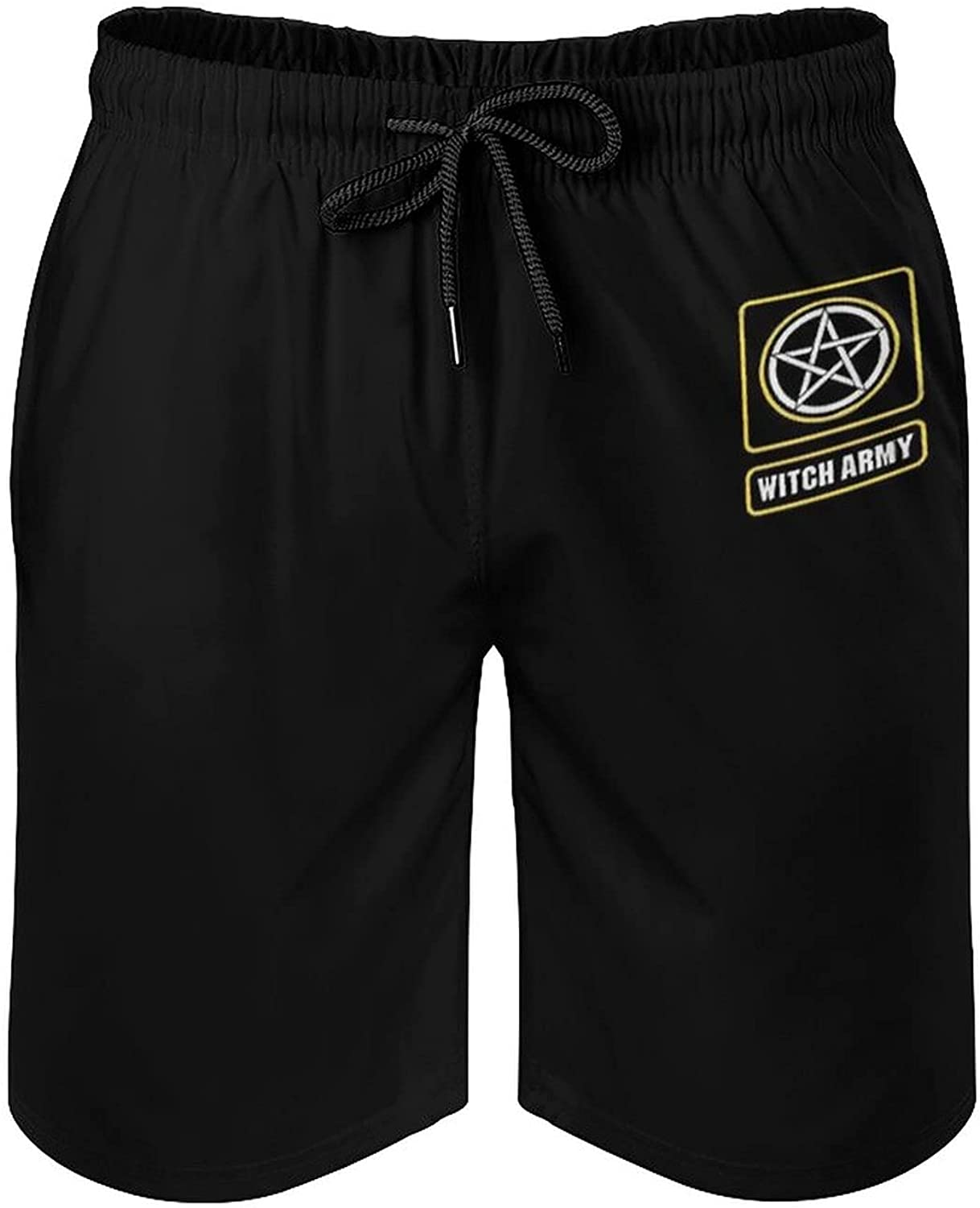 Board Shorts-Witch Army - Motherland Fort Salem Mens Beach Shorts Swimwear with Pockets Adjustable Drawstring