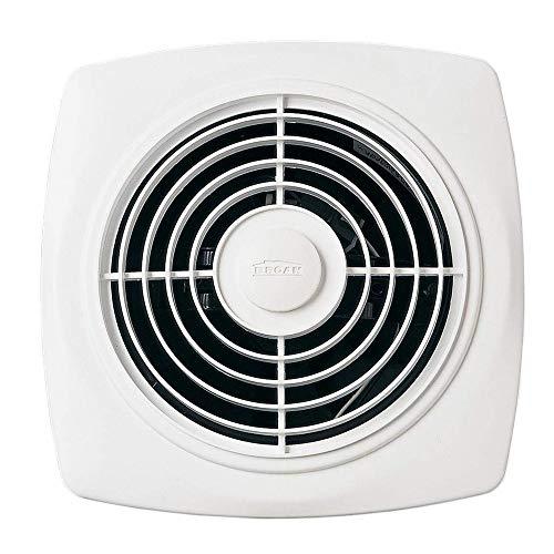 "Broan-NuTone 509 Through-the-Wall Ventilation Fan, White Square Exhaust Fan, 7.5 Sones, 180 CFM, 8"""