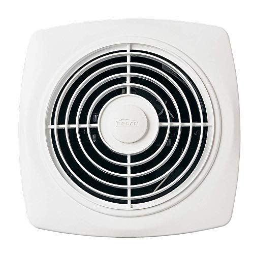 Broan-NuTone 509 Through-the-Wall Ventilation Fan, White Square Exhaust Fan, 7.5 Sones, 180 CFM, 8'