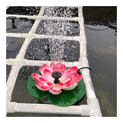 MINGMIN-DZ Dauerhaft Solar Lotus-Brunnen Lotus Flower Brunnen Brunnen Wasserpumpe Hof Landschaft Farben-Garten-Brunnen-Teich-Solar