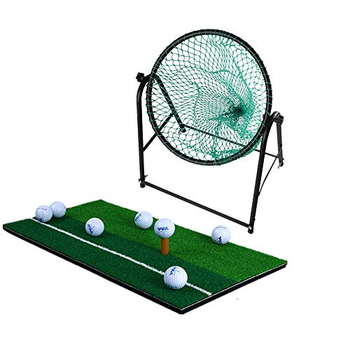 XDKQ Golf Training Net Set Complete with A Golf Chipping Mat/A TEE Holder,Portable Golf Practice Aids,Best Indoor Fitess Sport, for Birthday