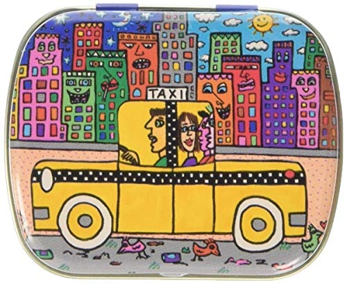 Fridolin Minidöschen James Rizzi-If You Take A Taxi, Put it Back aus Metall, bunt, 6.3x5.2x1.8 cm