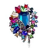 LSOPX -Europe und Amerika Weihnachten Blume Diamant dreidimensionale Brosche Retro Exquisite...