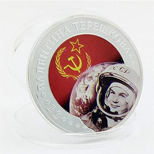 Los Vuelos Espaciales,Monedas Conmemorativas,la Unión Soviética,Mujer Astronauta,����ʩ����,Aeroespacial,Islas Marshall,Y la Gloria,Coleccionables,Historia,Regalo,2Pcs Moneda de Decisión/Plata