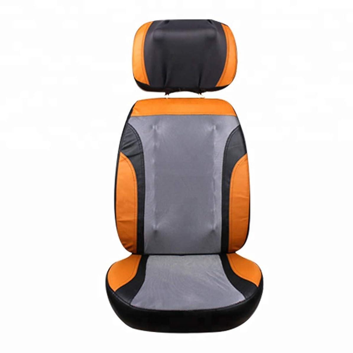 ちょうつがい教養がある分布マッサージシート スムージングヒート機能と24マッサージヘッドローリングマッサージチェアパッドの自宅用車の使用
