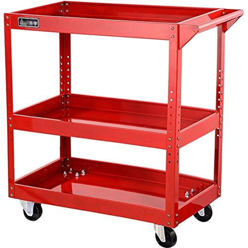 3-stufiger Werkzeugwagen auf Rädern, Werkzeugorganisatoren, Werkstattgarage, DIY-Box, Aufbewahrungs-Service-Wagen für bis zu 300 kg, Werkstatt-Aufbewahrungs-Rollwagen