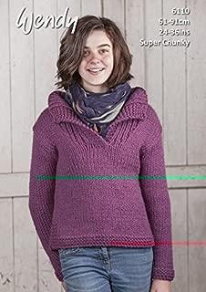 Wendy Kids Sweater With Wool Knitting Pattern 6110 Super Chunky