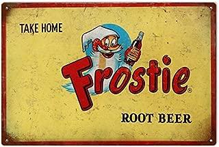 Susie85Electra Root Beer Signs Frostie Root Beer Aged Aluminum Soda Pop Art Decor Sign