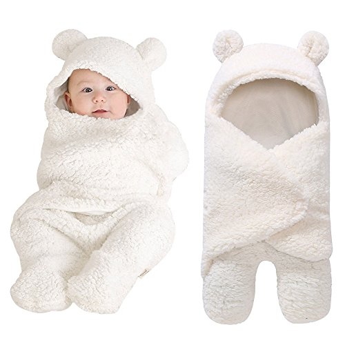 Y56 Baby Sleeping Bag Wrap Blanket Universal Baby Cute Newborn Infant Baby Boy Girl Swaddle Photography Prop for 0 12 Months with Free Toy
