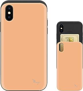 iPhone Xs ケース iPhone X ケース TPU バンパー Bumper 耐衝撃 カード入れ マット加工 ワイヤレス充電対応 スマホケース 擦り傷防止 保護フィルム Breeze 3DP 正規品 [IXJP209BN]