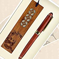 書道ペンボールペンボールペンペンペン木マホガニーペンブックマークギフトボックス美しい新年ギフトセット