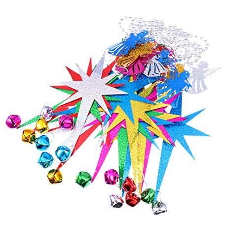 STOBOK Adorno de Navidad Guirnalda Decoraciones para árboles de Navidad con cascabeles ángulo Colgando Adornos...