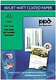 A3 x 100 Hojas de Papel Fotográfico Mate - Para Impresión de Inyección de Tinta - Gramaje de 170 g/m² y Secado Instantáneo - PPD-57-100