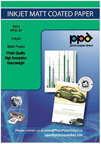 PPD 100 Blatt x A3 Inkjet 170 g/m2 Fotopapier Matt einseitig beschichtet für vollfarbige sofort trocknende Ausdrucke in Fotoqualität - unser Klassiker zum Sparpreis - DIN A3 x 100 Blatt PPD057-100