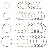 PandaHall 280 anillos de latón de 20/25/30/35 mm, 4 colores, pendientes para hacer joyas, bodas,...