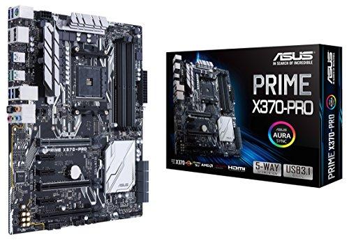 Asus Prime X370-PRO - Placa con Aura Sync, DDR4 3200MHz, 32Gb/s M.2, DP/HDMI, SATA 6Gb/s, USB 3.1