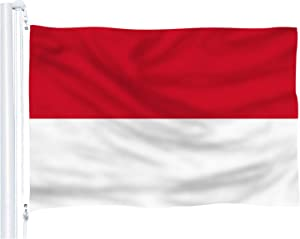 DFLIVE Indonesia Flag 3x5 Ft Thicker Polyester The Indonesian National Banner with Brass Grommets