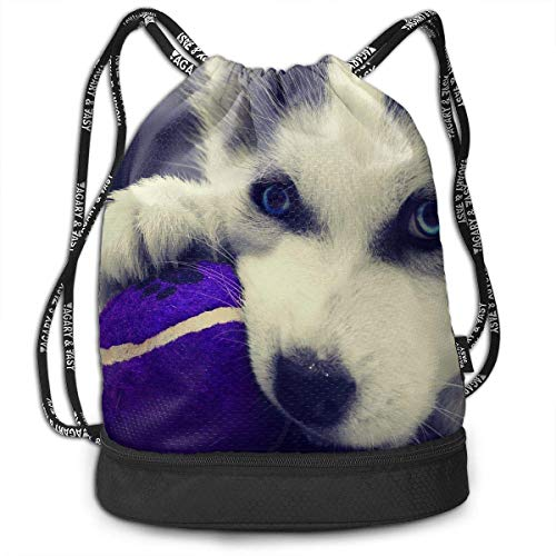 Petrichor Yi Gym Sack Puppy Husky Print Drawstring Bags - Sac à Dos à Poche Simple Bundle