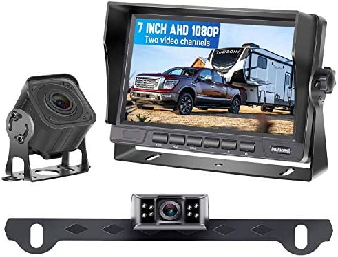 DoHonest V27 AHD 1080P 7 TFT Monitor RV Dual Backup Camera for Trucks Trailers 5th Wheels Motorhomes product image