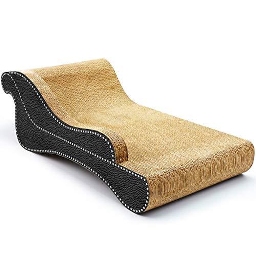 MC.PIG CAT Scratching Elastic Lounge-Sofa Katzenkratzbrett aus Wellpappe Fat Cat Beach Chaiselongue-Schlafsofa Style Cat Scratch Itch