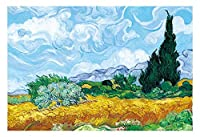 YANGBM 世界的に有名な絵画のジグソーパズル300/500/1000作品 - 大人のためのキッズボーイズのおもちゃのギフトアート(ゴッホが絵画 - サイプレス) ジグソーパズル (Size : 500pcs)