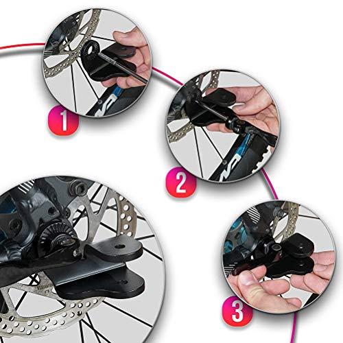 Schimer aanhangerkoppeling standaard, fietskar koppeling voor Qeridoo aanhanger voor Qeridoo modellen vanaf bouwjaar 2017 I extra fietskoppeling voor kinderaanhanger