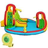 Best Water Slides - HONEY JOY Inflatable Water Slide, Kids Bounce House Review