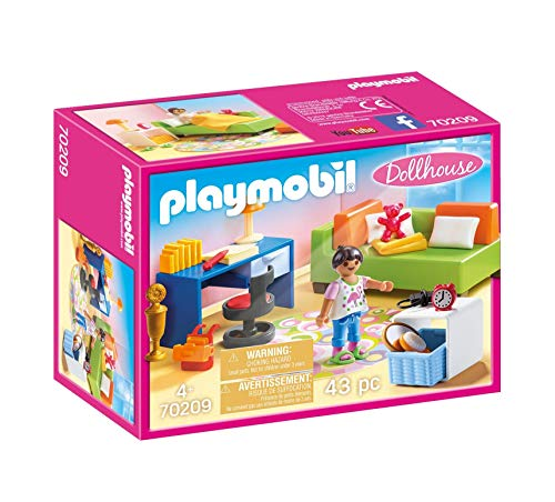 PLAYMOBIL- Teenager's Room Dollhouse Habitación Adolescente, Multicolor, Talla única (70209)