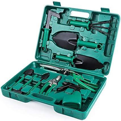iCorer Gardening Tools Set 10 Pieces Garden Tools Kit Including Digging Weeder Rake Shovel Sprayer product image