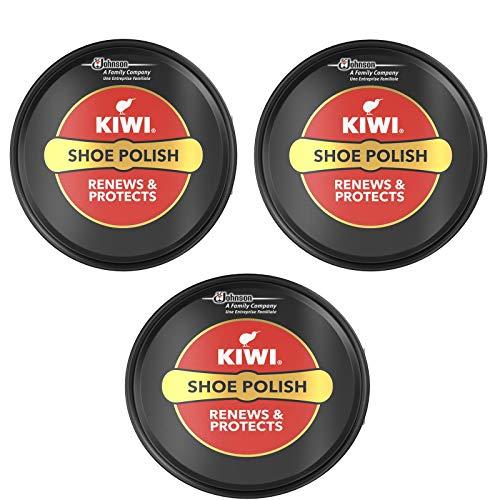 Kiwi-Schuhpolitur für Stiefel, Schwarz, 50 ml, 2 Stück
