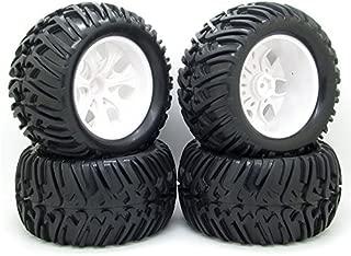 4x 128mm RC 1/10 Monster Truck Bigfoot Tyre Tires &12mm HEX Wheel Rim Hub for HSP