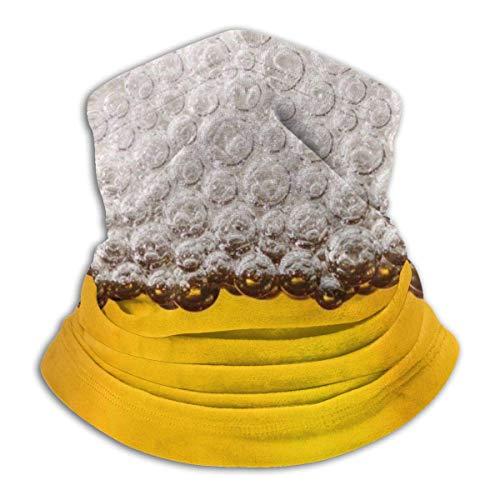 MosesYong Bier Alkohol Hals Gamasche Wärmer Unisex Warm Circle Loop Schals Für Winter Outdoor Sport Sonne UV Wind Staubschutz