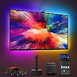 Govee Immersion Rétroéclairage TV LED WiFi avec Caméra, Smart Ruban LED 3,8m RGBIC, Bande LED Compatible avec Alexa et Google Assistant, Contrôle d'App pour TV 55-65 Pouces et PC, Mode Musique Scènes
