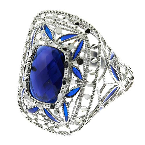 Córdoba Jewels | Anillo en Plata de ley 925 con diseño Luxury Montana Rectangle Silver