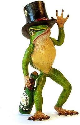 Frog with Bottle/Top Hat Vienna Bronze Figurine