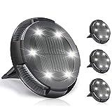 TBoonor Luci Solari da Giardino 4 Pezzi Luce Giardino con 10 LEDs IP65 Impermeabili Luce Sepolta...
