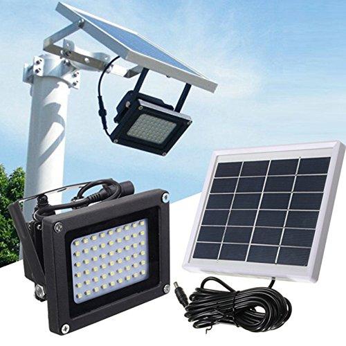 Jiguoor 54 LED Lampe solaire 3528 SMD éclairage d'extérieur Sensor Sécurité Projecteur LED étanche contrôle manuel et léger Mode de contrôle