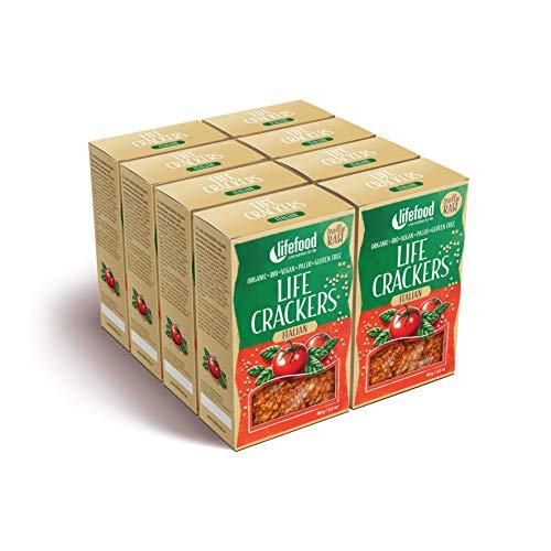 lifefood Pikantbrot Italienisch Roh Bio, 8er Pack (8 x 90 g)