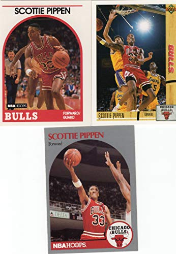 1989-1992 Scottie Pippem 3 card Lot - Chicago Bulls - NBA Champions - Last Dance