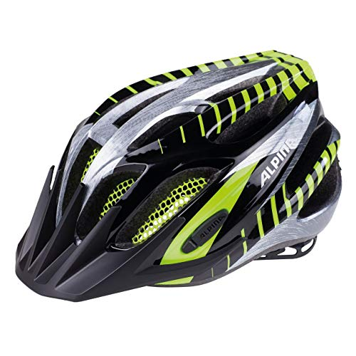 ALPINA FB JR. 2.0 Fahrradhelm, Kinder, black green, 50-55