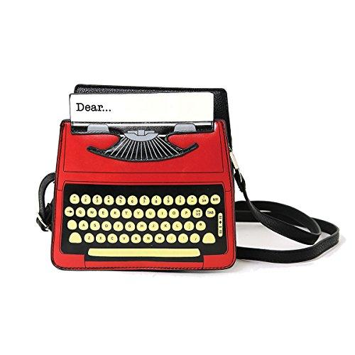 Vintage-Schreibmaschinen-Umhängetasche, Siebdruck, Vinyl